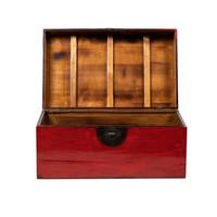 Antieke Chinese Kist Glanzend Rood B93xD57xH43cm