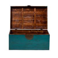 Antieke Chinese Kist Glanzend Teal B86xD54xH44cm