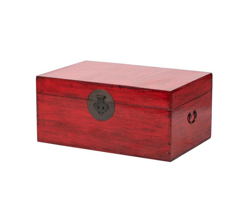 Antieke Chinese Kist Glanzend Rood B89xD57xH40cm