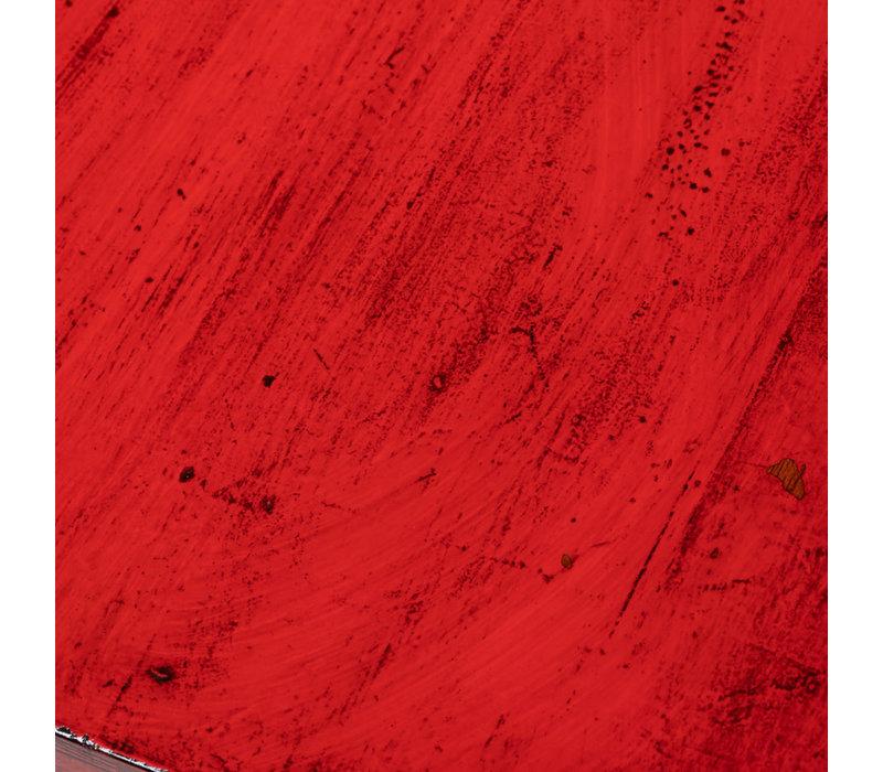 Antike Chinesische Truhe Glänzend Rot B89xT57xH40cm