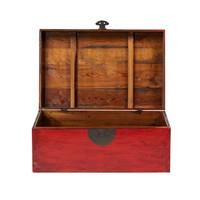 Antieke Chinese Kist Rood B88xD57xH40cm