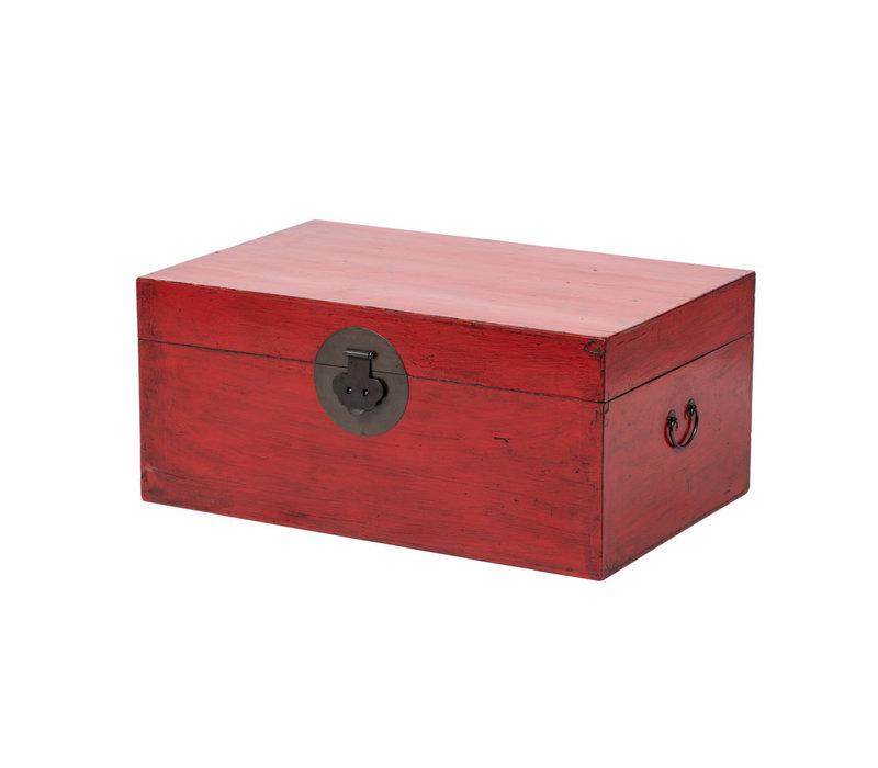 Antieke Chinese Kist Glanzend Rood B88xD57xH40cm