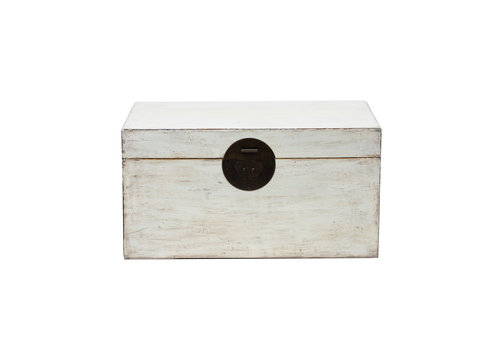 Fine Asianliving Antique Chinese Chest Glossy White W87xD56xH45cm
