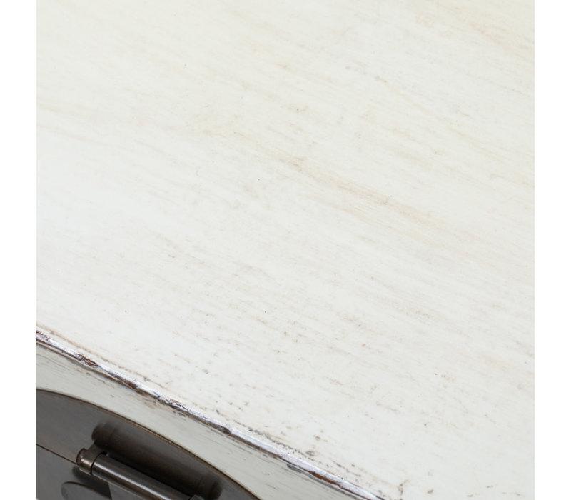 Baule Cassapanca Cinese Antico Bianco L87xP56xA45cm