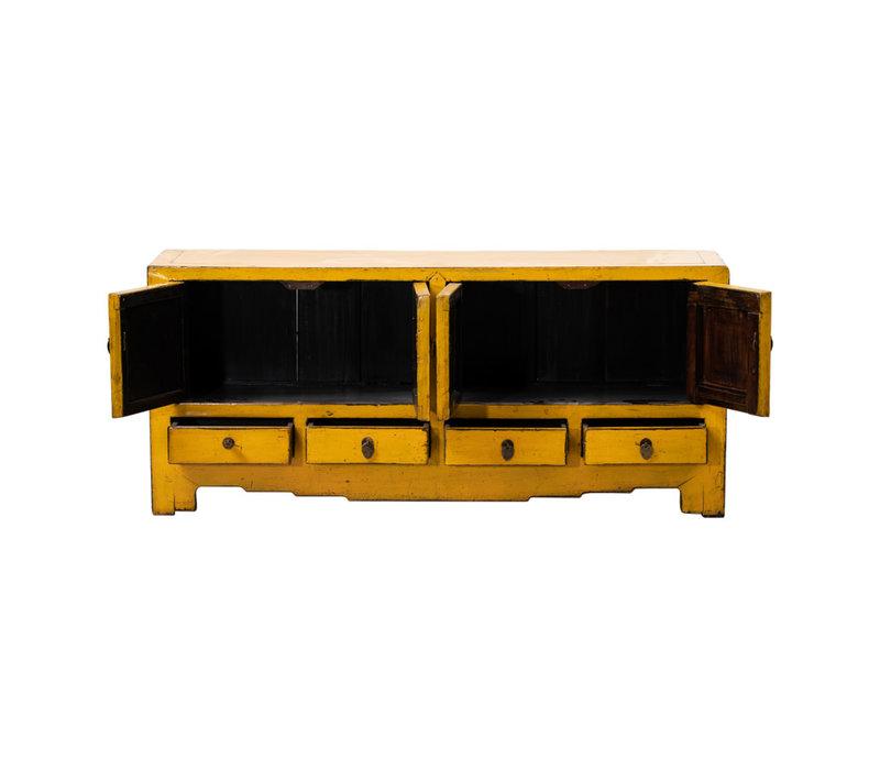 Meuble TV Chinois Antique jaune L144xP39xH64cm