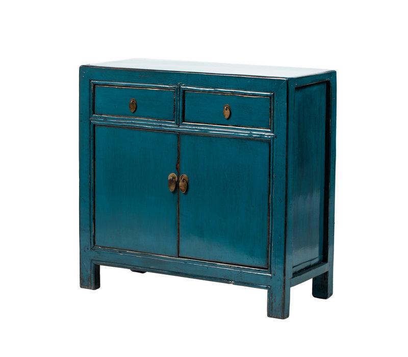 Armoire Chinoise Antique Bleu Canard L93xP41xH90cm