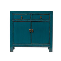 PREORDER 28/12/2020 Antique Chinese Cabinet Glossy Teal W93xD41xH90cm