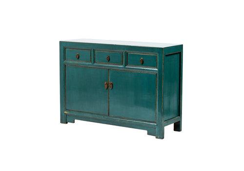 Fine Asianliving Buffet Chinois Antique Bleu Canard L120xP40xH85cm