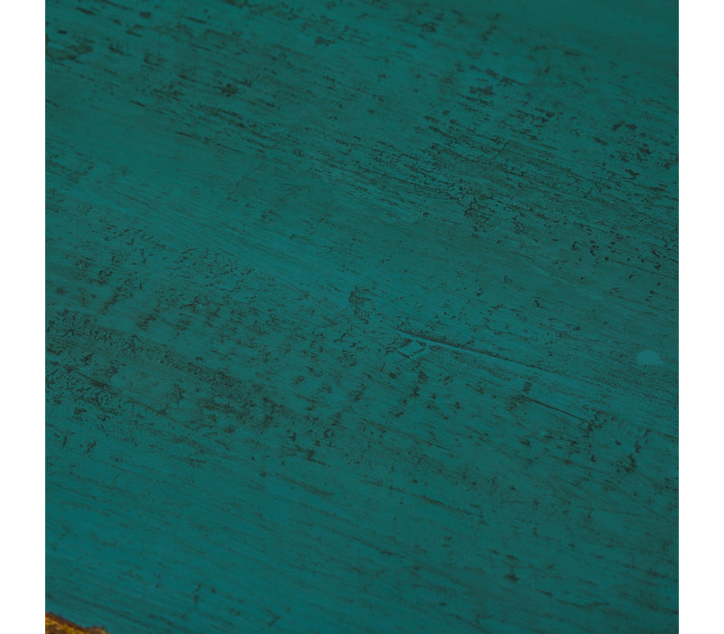 Antieke Chinese Dressoir Glanzend Teal B120xD40xH85cm