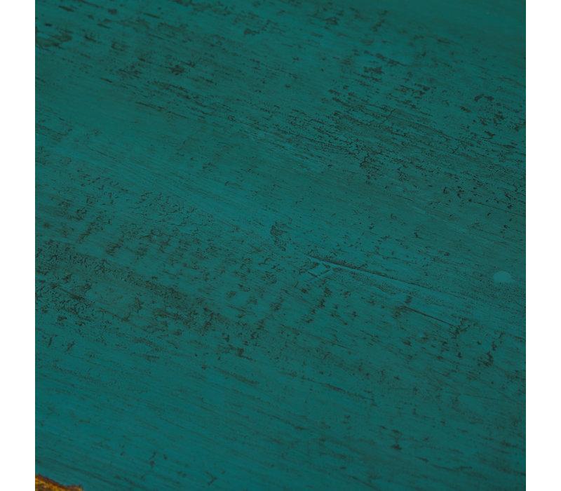 Antikes Chinesisches Sideboard Kommode Glänzend Aquamarin B120xT40xH85cm