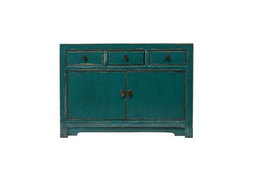 Fine Asianliving Buffet Chinois Antique Bleu Canard L120xP45xH85cm