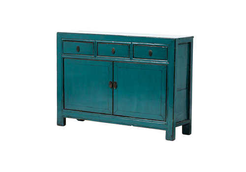 Fine Asianliving Antique Chinese Sideboard Glossy Blue W126xD39xH91cm