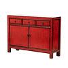 Fine Asianliving Antieke Chinese Dressoir Glanzend Rood B129xD38xH92cm