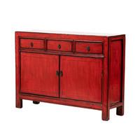 Antieke Chinese Dressoir Glanzend Rood B129xD38xH92cm