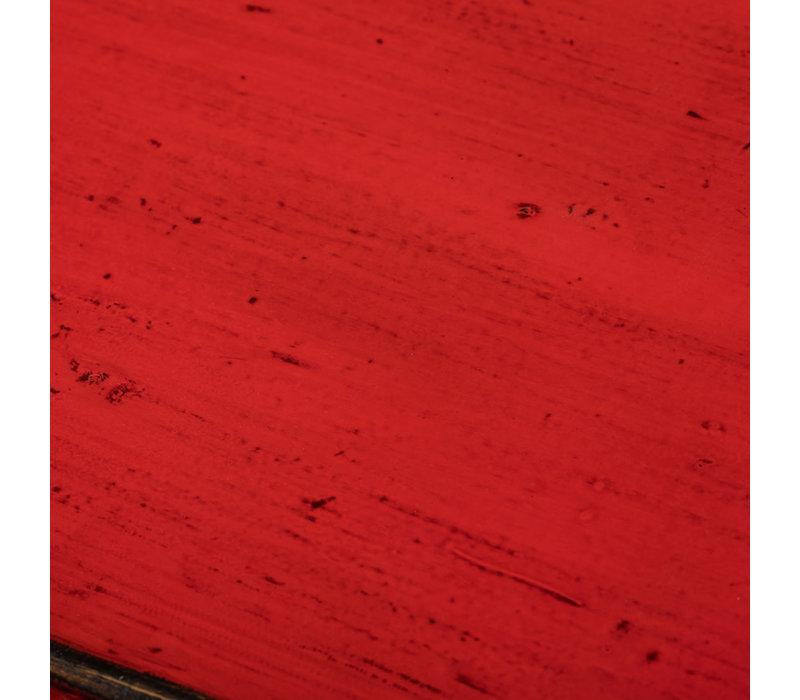 Antieke Chinese Dressoir Rood B128xD39xH92cm