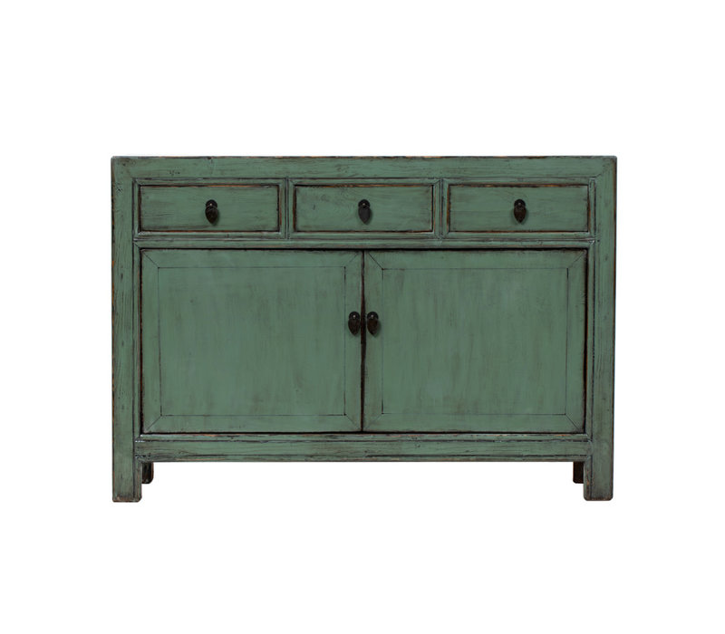 PREORDER 28/12/2020 Antique Chinese Sideboard Glossy Mint W130xD38xH91cm