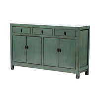 Antique Chinese Sideboard Glossy Mint W154xD40xH91cm