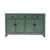 PREORDER 28/12/2020 Antique Chinese Sideboard Glossy Mint W154xD40xH91cm