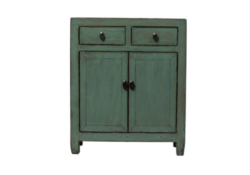 Fine Asianliving Armoire Chinoise Antique Glossy Menthe L76xP38xH96cm