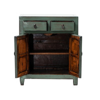 Antique Chinese Cabinet Glossy Mint W76xD38xH96cm