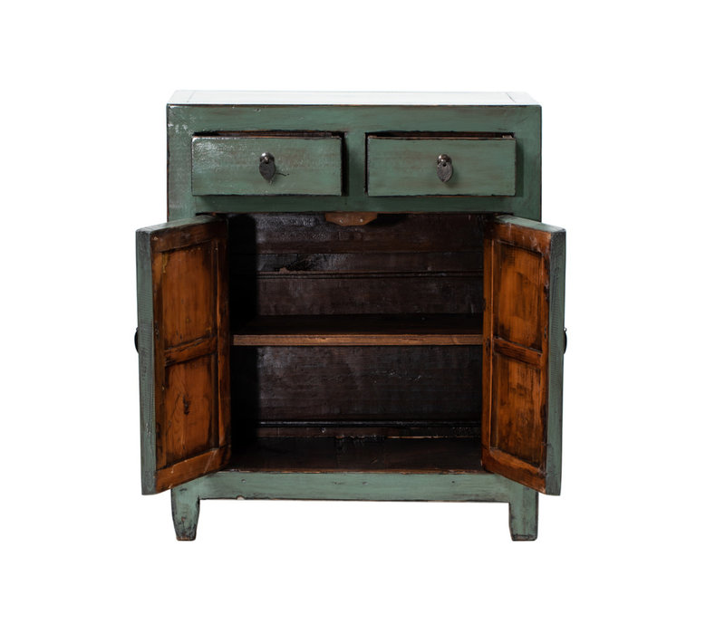 PREORDER 28/12/2020 Antique Chinese Cabinet Glossy Mint W76xD38xH96cm