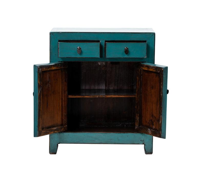 Armoire Chinoise Antique Teal L77xP39xH92cm