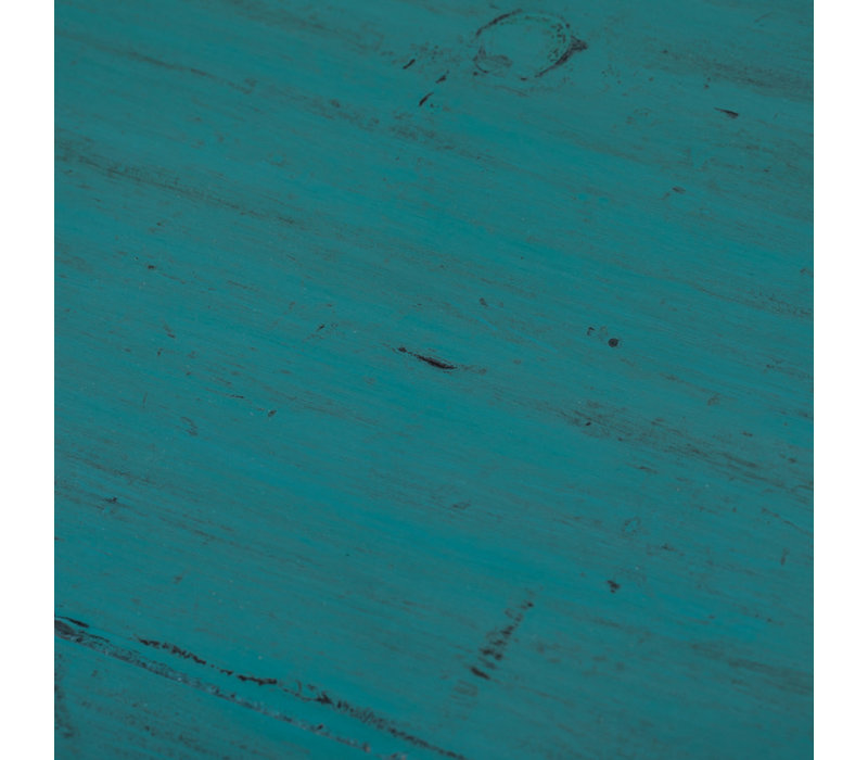 Antique Chinese Cabinet Glossy Teal W77xD39xH92cm