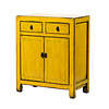 Fine Asianliving Antique Chinese Cabinet Glossy Yellow W77xD40xH92cm