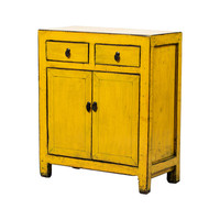 PREORDER 28/12/2020 Antique Chinese Cabinet Glossy Yellow W77xD40xH92cm