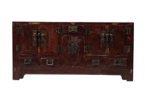 Fine Asianliving Antique Chinese TV Cabinet Brown L125xD38xH61cm