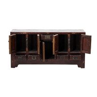 PREORDER 28/12/2020 Antique Chinese TV Cabinet Brown L125xD38xH61cm