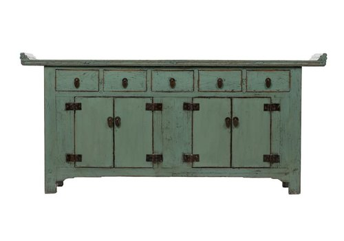 Fine Asianliving Antique Chinese Sideboard Glossy Mint W209xD50xH86cm