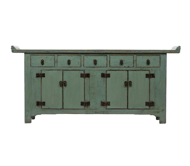 Antique Chinese Sideboard W209xD50xH86cm Glossy Mint