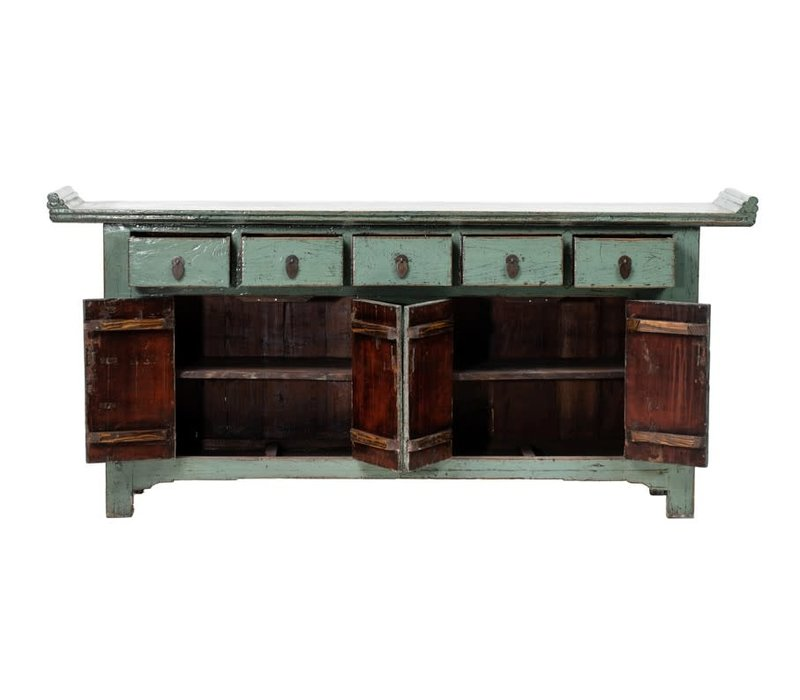 PREORDER 28/12/2020 Antique Chinese Sideboard W209xD50xH86cm Glossy Mint