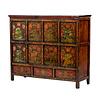 Fine Asianliving PREORDER 28/12/2020 Antique Tibetan Cabinet Handpainted Animals W142xD49xH120cm