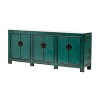 PREORDER 28/12/2020 Antique Chinese Sideboard W213xD42xH88cm Glossy Teal