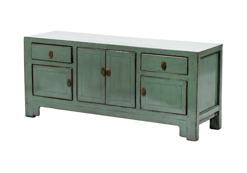 Fine Asianliving PREORDER 28/12/2020 Antique Chinese TV Cabinet W132xD40xH57cm Glossy Mint