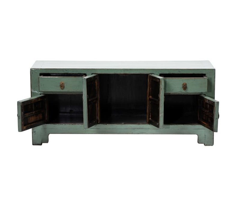 PREORDER 28/12/2020 Antique Chinese TV Cabinet W132xD40xH57cm Glossy Mint