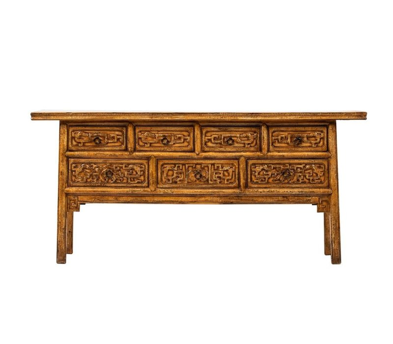 PREORDER 28/12/2020 Antique Chinese Console Table W175xD45xH81cm Handcarved Flowers