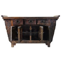 Antieke Chinese Dressoir Handgesneden B157xD43xH92cm