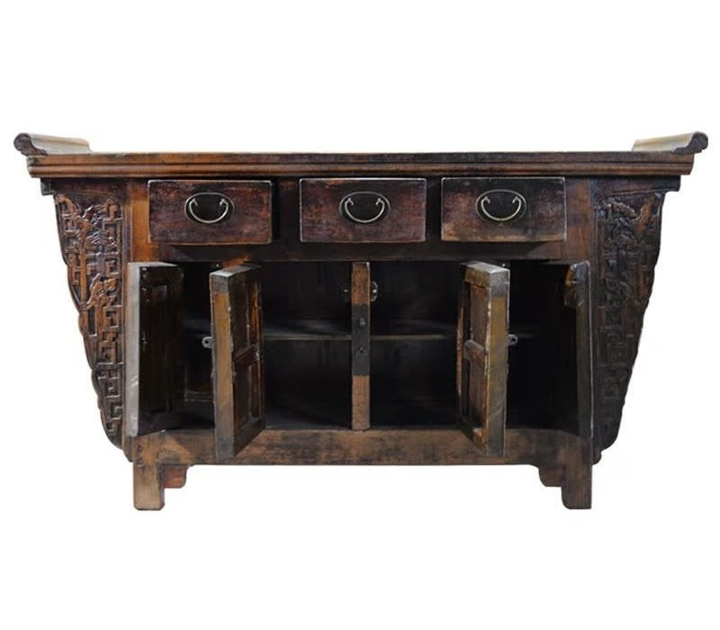 PREORDER 28/12/2020 Antique Chinese Sideboard W157xD43xH92cm Handcarved