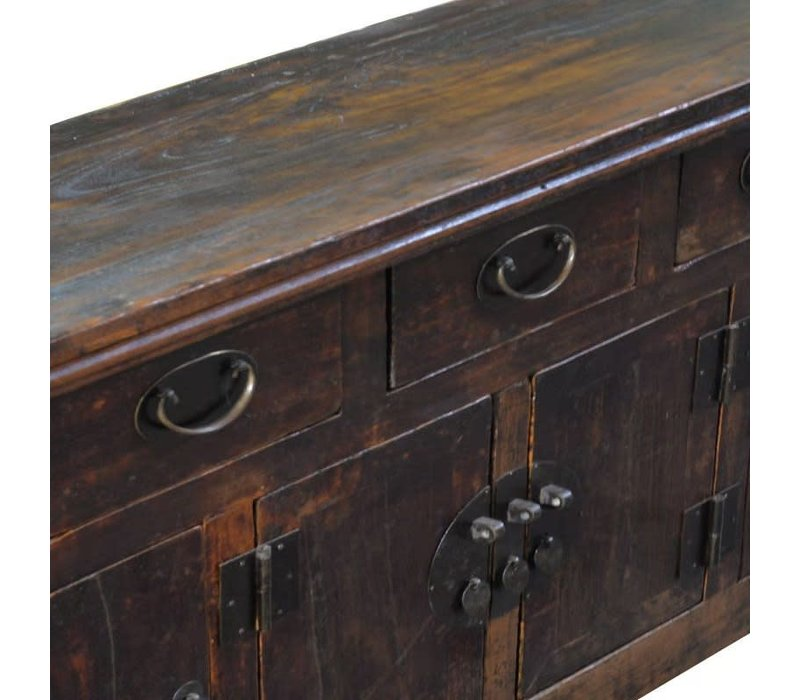 Antique Chinese Sideboard W157xD43xH92cm Hand-carved