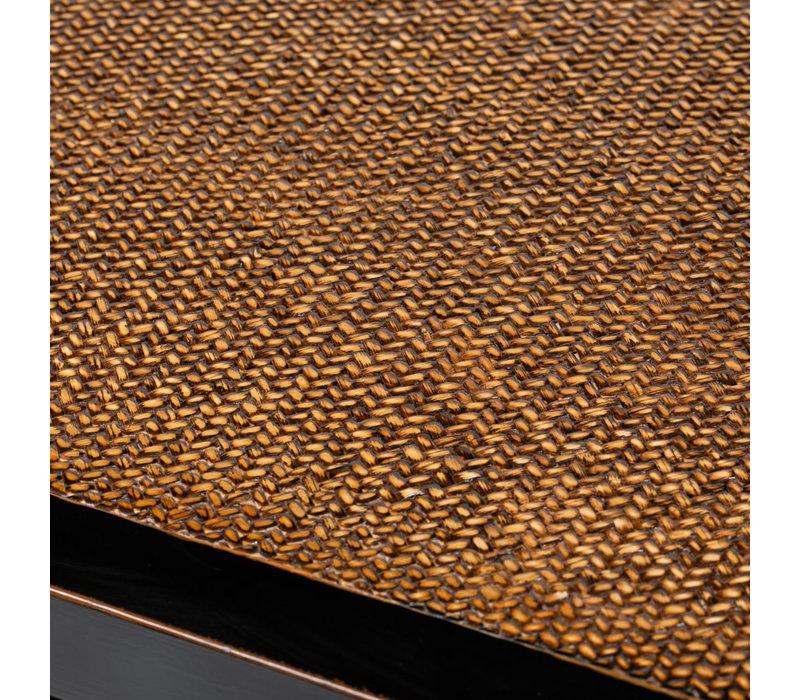 PREORDER 28/12/2020 Chinese Sideboard Handbraided Bamboo Black W140xD40xH81cm