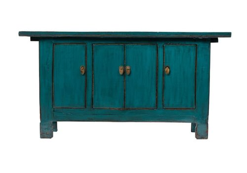 Fine Asianliving PREORDER 28/12/2020 Antique Chinese Sideboard Glossy Teal W168xD44xH87cm