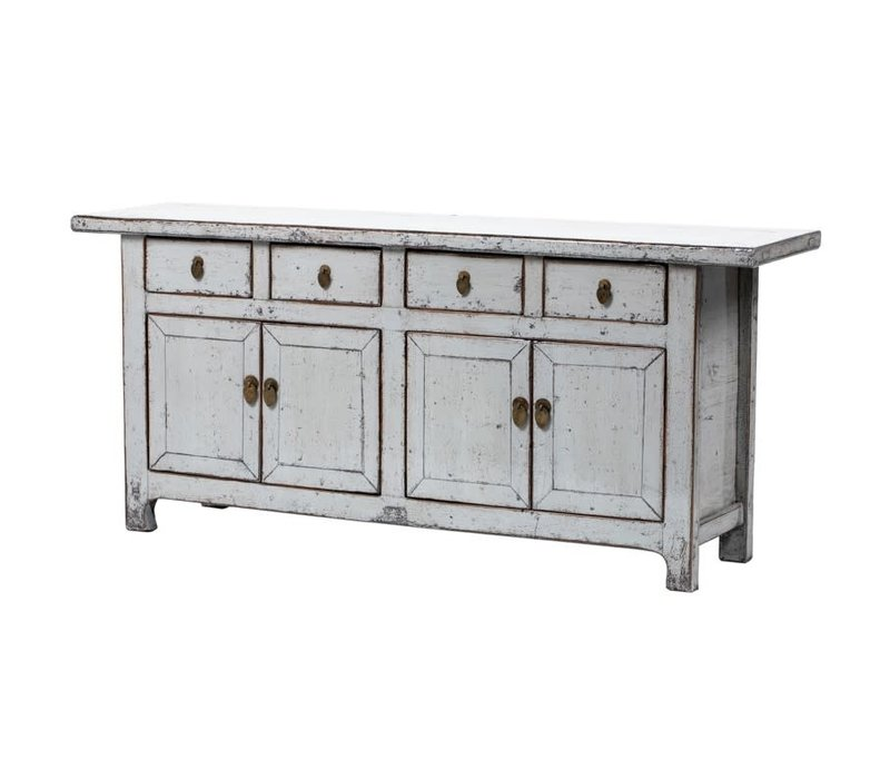 PREORDER 28/12/2020 Antique Chinese Sideboard W177xD45xH78cm Glossy White