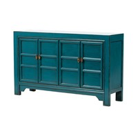 PREORDER 28/12/2020 Chinese Sideboard Glossy Blue W150xD40xH90cm