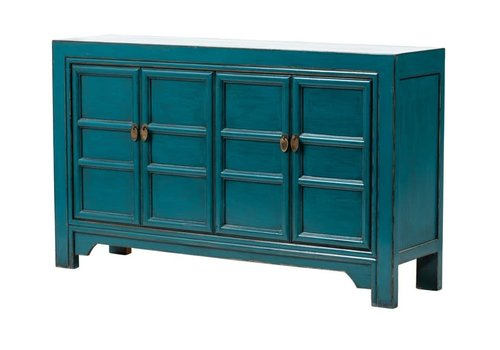Fine Asianliving Chinese Sideboard Glossy Blue W150xD40xH90cm
