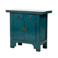 PREORDER 28/12/2020 Antique Chinese Cabinet Glossy Blue W94xD44xH86cm