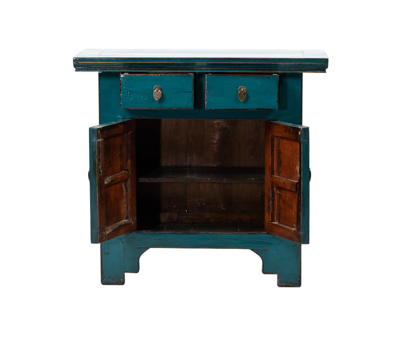 Antique Chinese Cabinet Glossy Blue W94xD44xH86cm