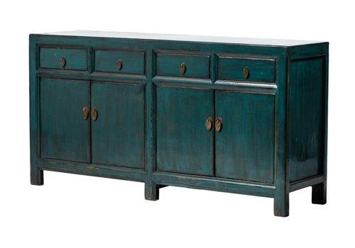 Fine Asianliving Antieke Chinese Dressoir Glanzend Donker Groenblauw B165xD45xH87cm